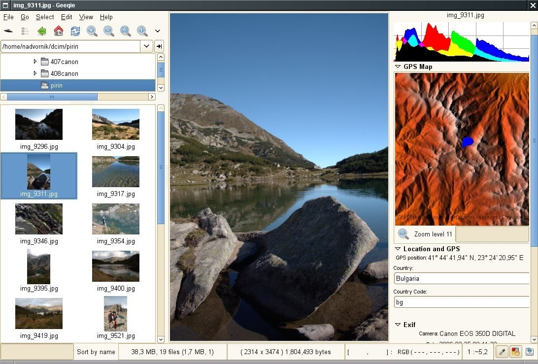 Geeqie Image Viewer screenshot 1