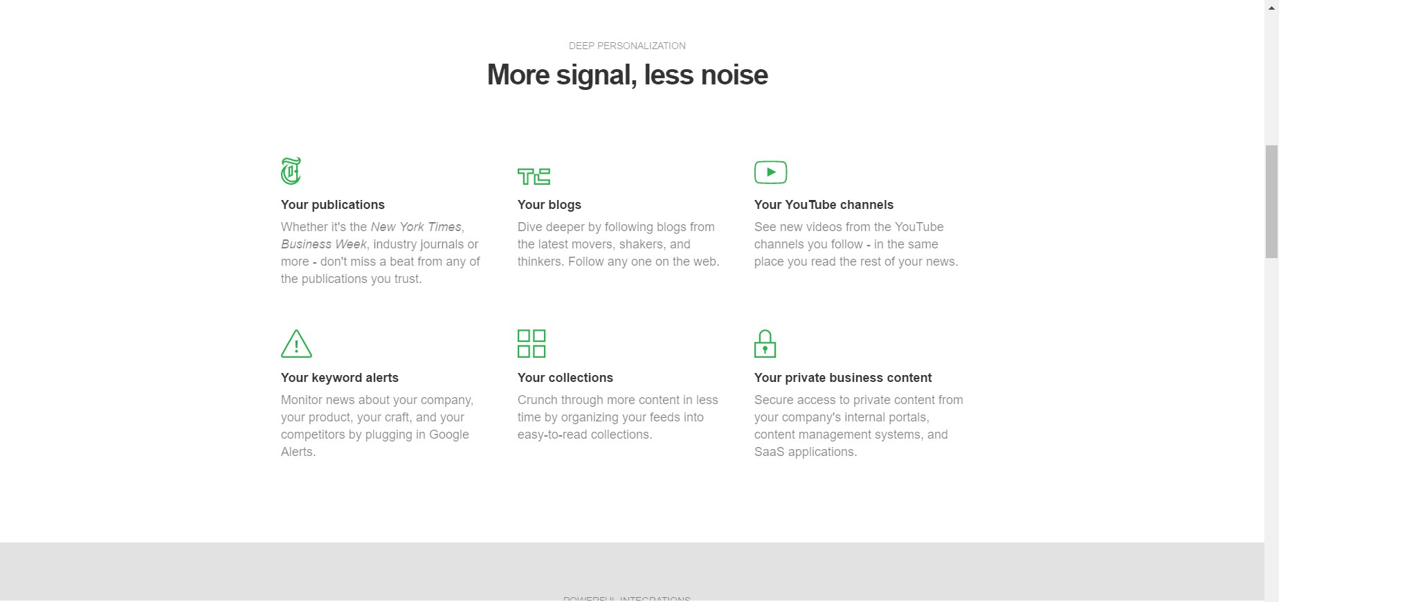 Feedly screenshot 1