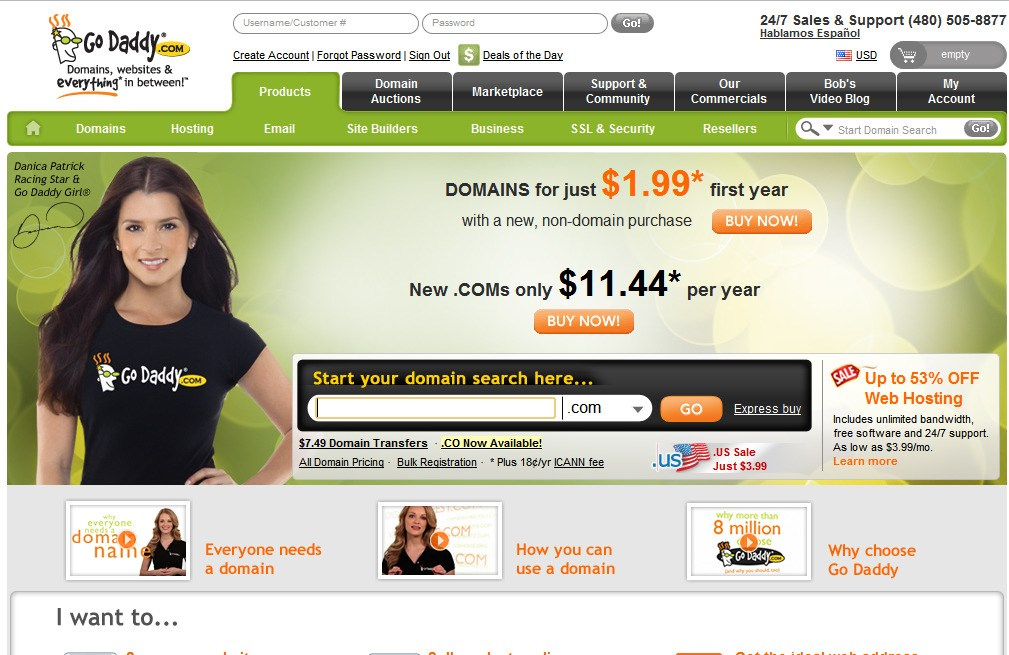 GoDaddy screenshot 0