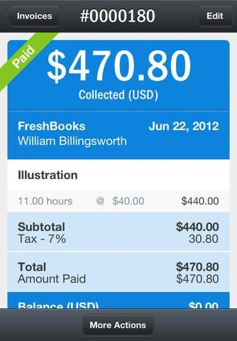 FreshBooks screenshot 0