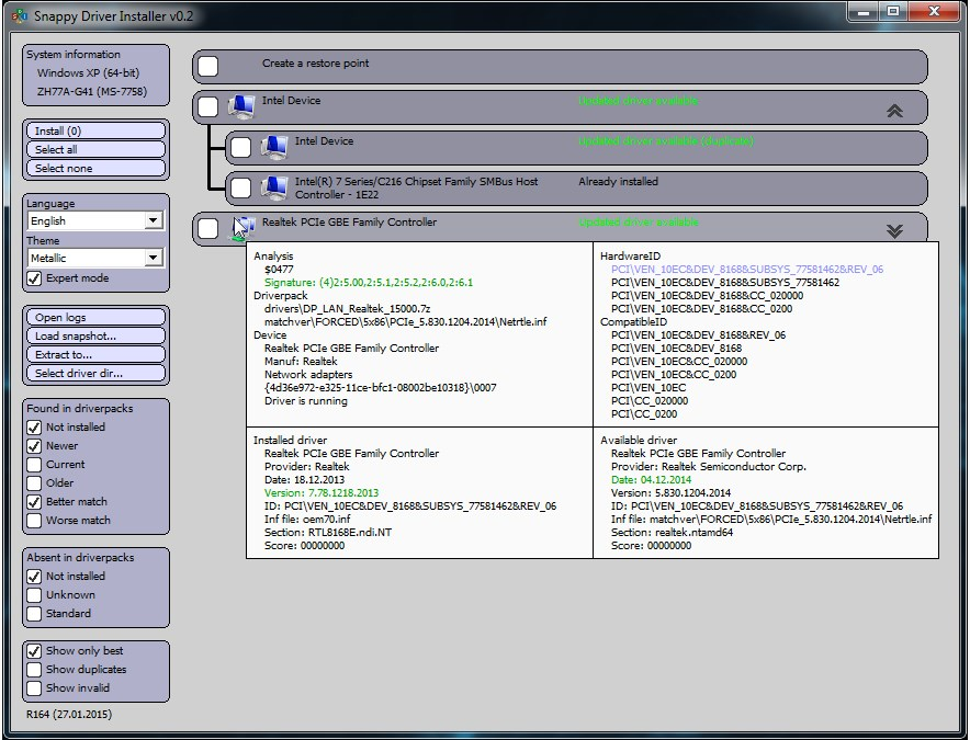 Snappy Driver Installer screenshot 1