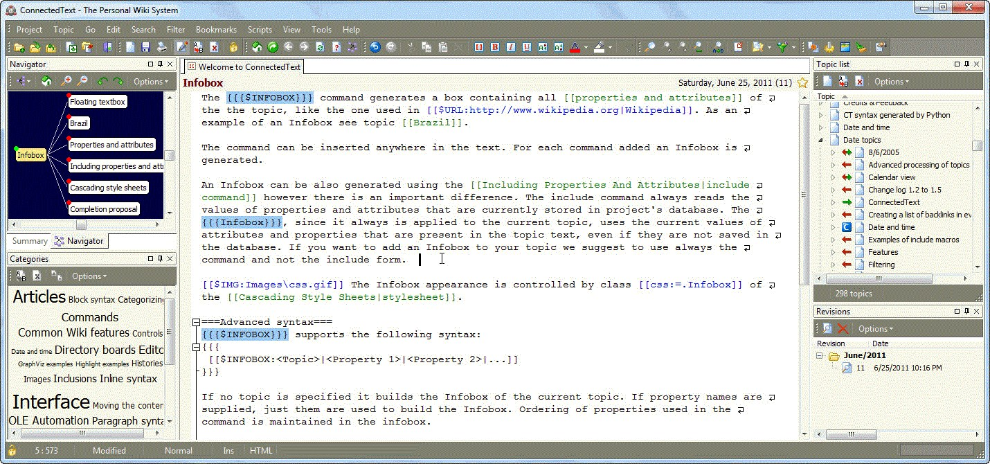 ConnectedText screenshot 1