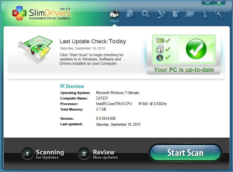 SlimDrivers screenshot 0