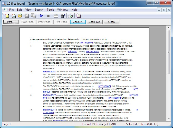 FileLocator screenshot 1