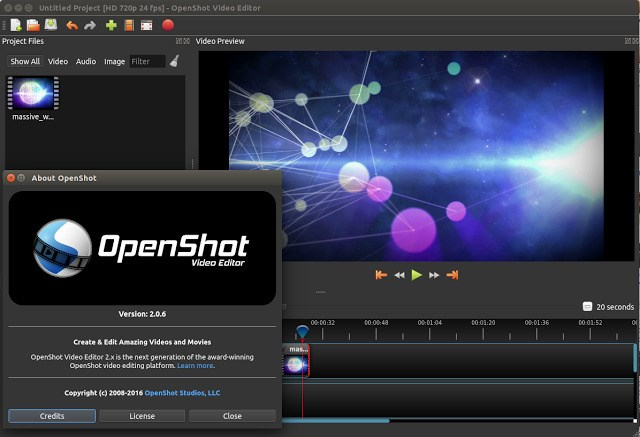 OpenShot screenshot 1