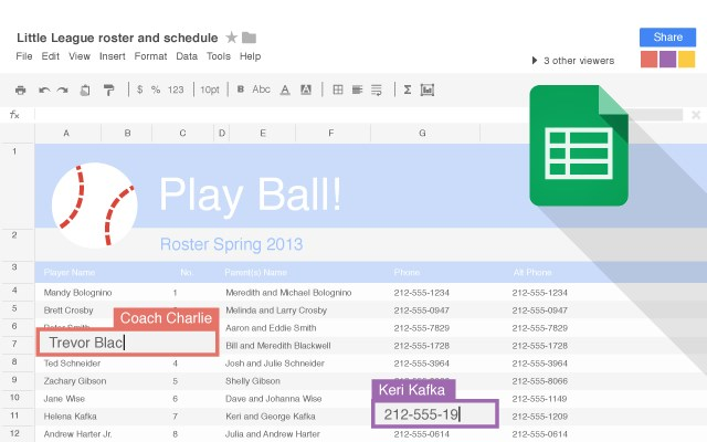 Google Drive - Sheets screenshot 2