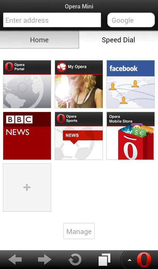 Opera Mini screenshot 2