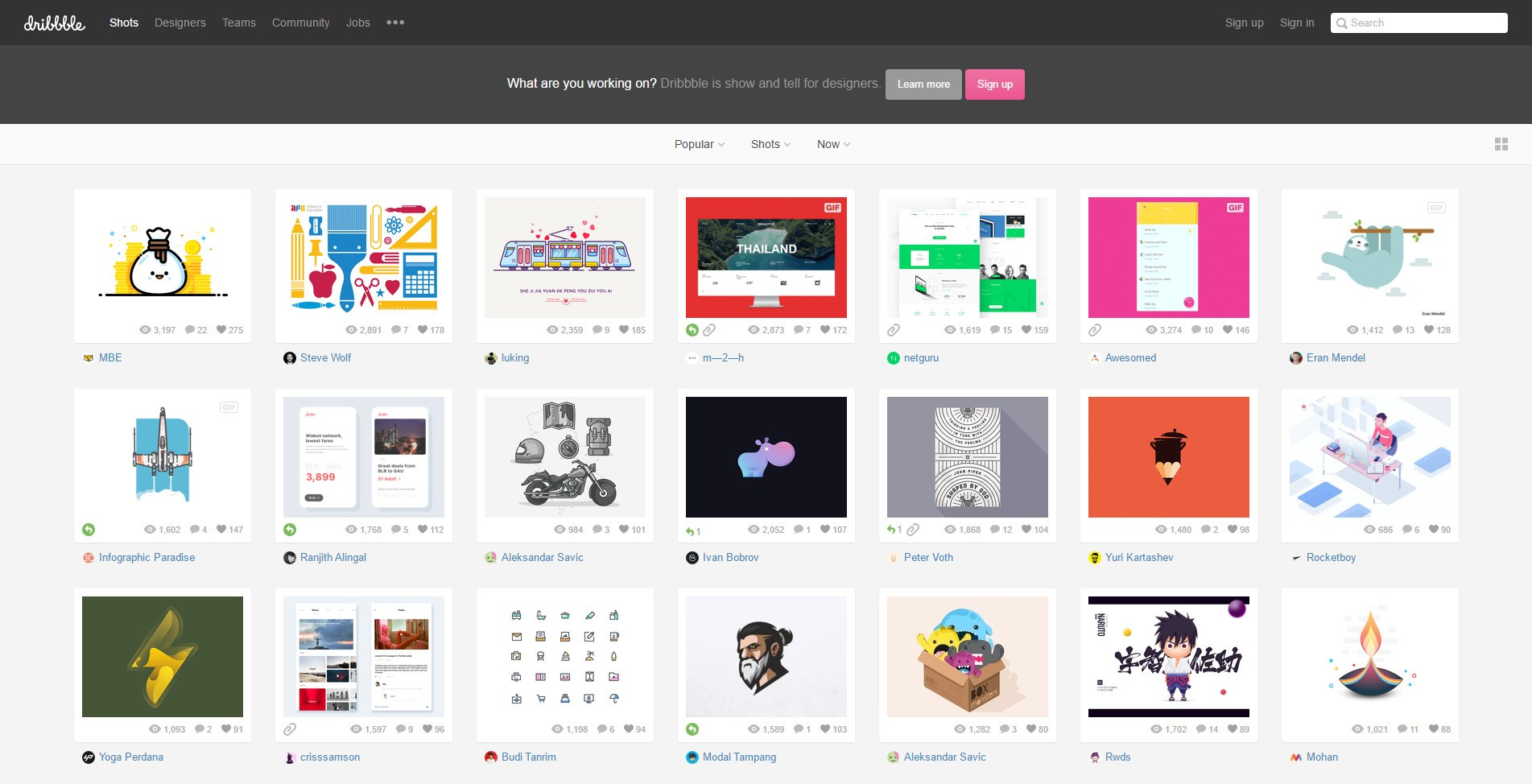 Dribbble screenshot 0
