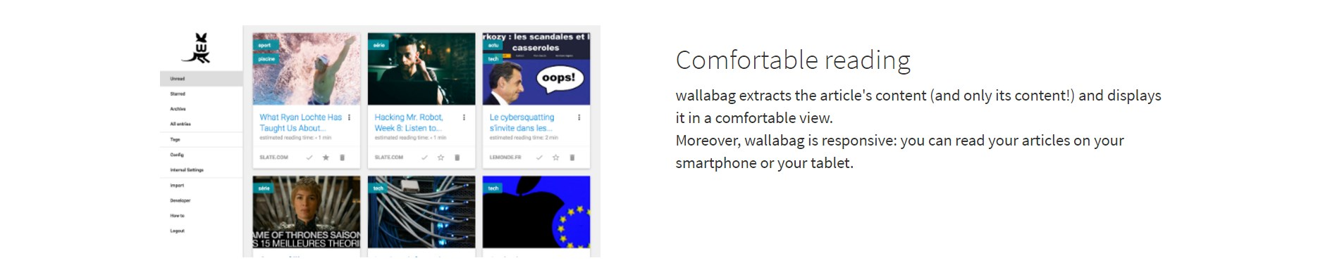 wallabag screenshot 1