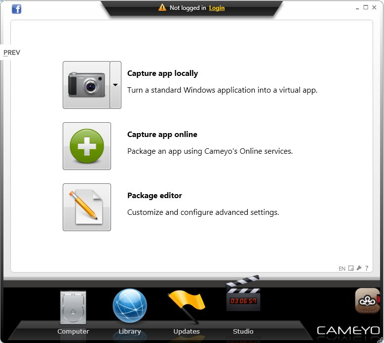 Cameyo screenshot 1