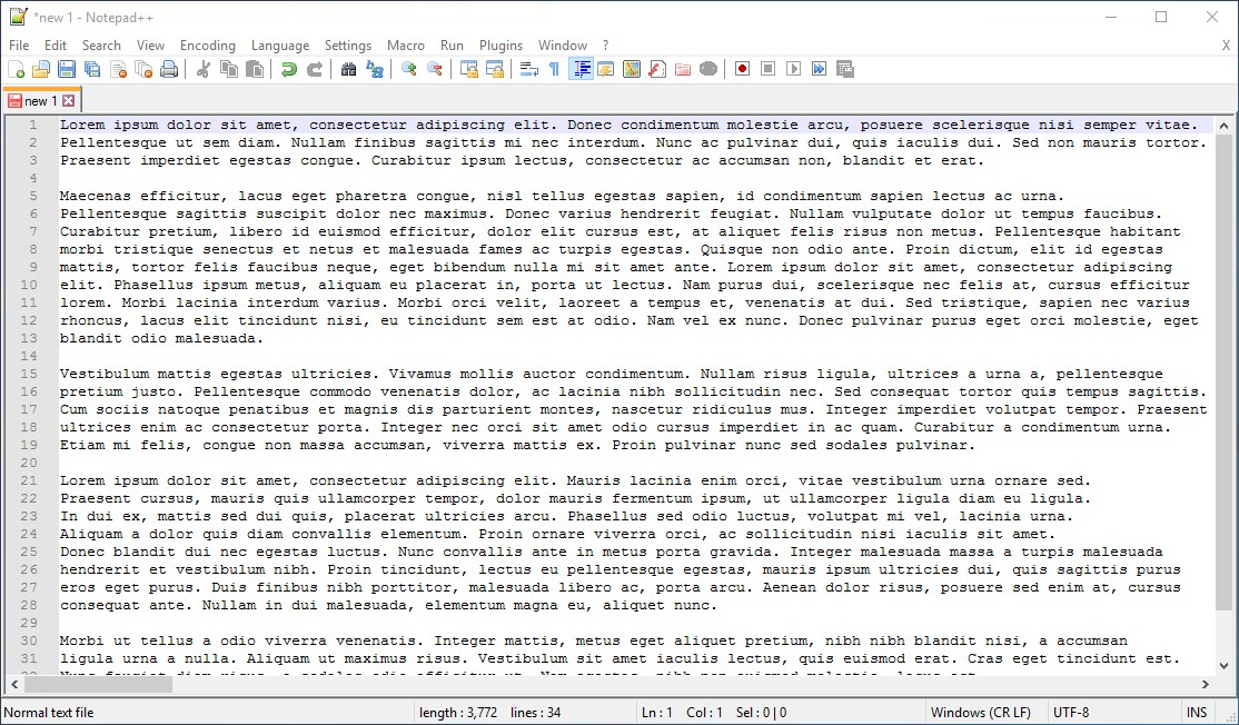 Notepad++ screenshot 0