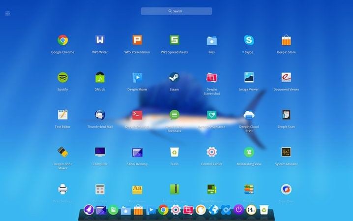 Deepin screenshot 0