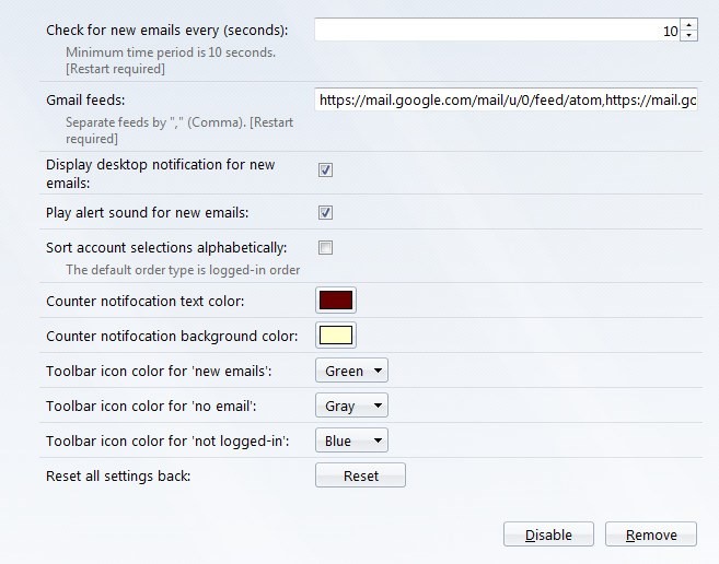 Gmail Notifier (restartless) screenshot 2