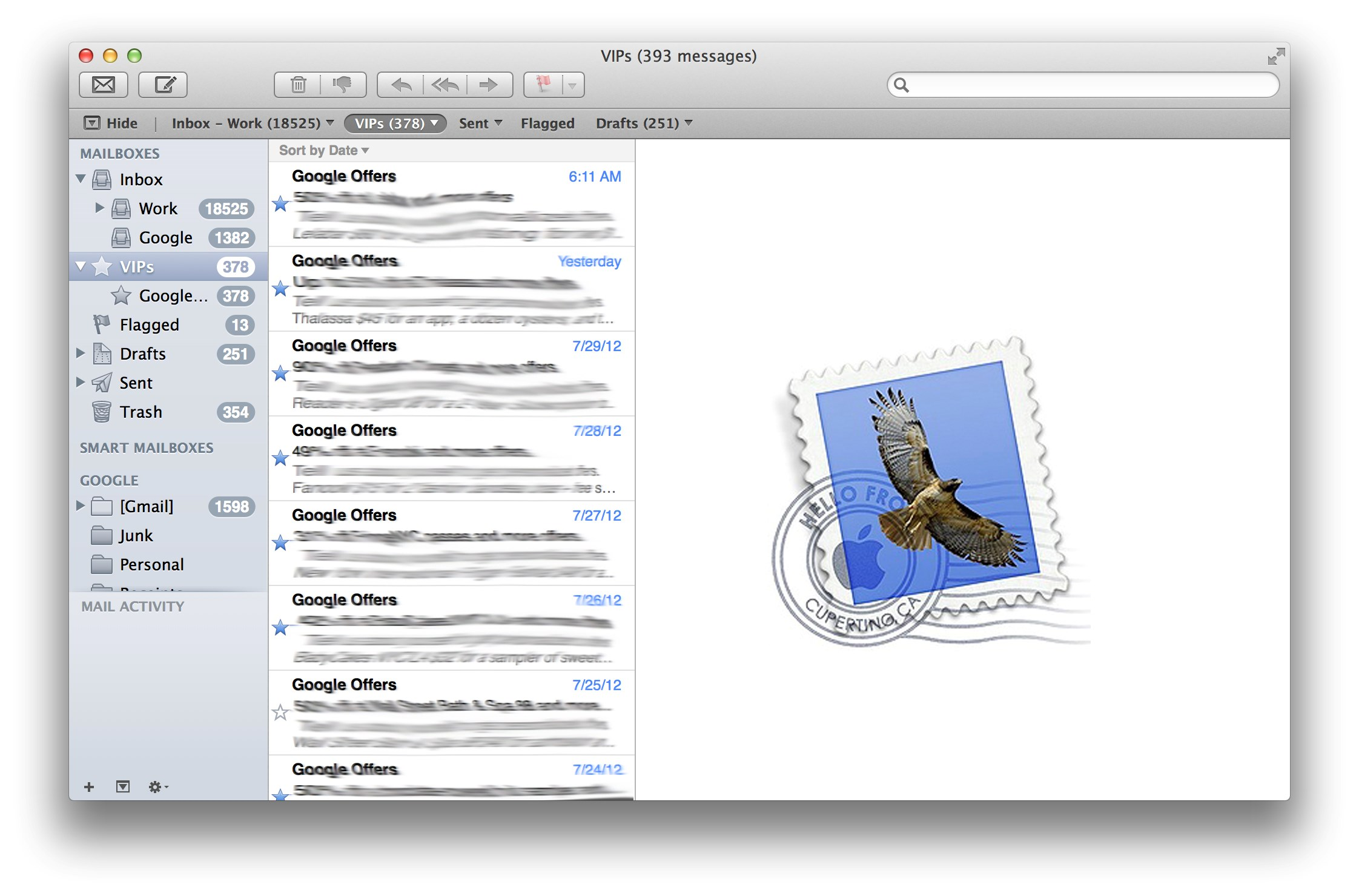 Apple Mail screenshot 2
