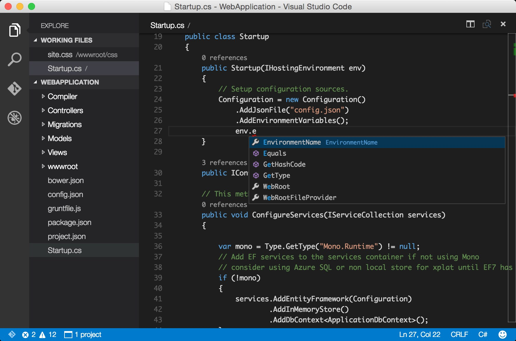 Visual Studio Code screenshot 0