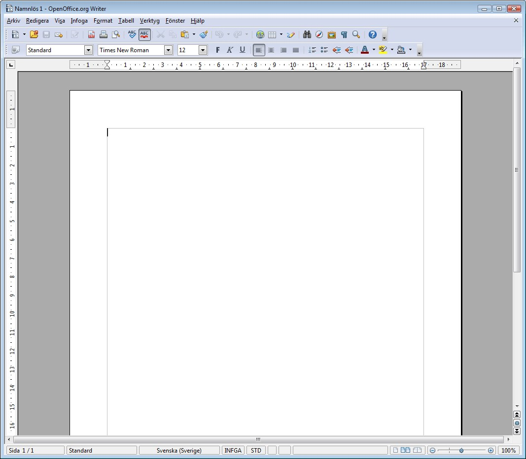 Apache OpenOffice Writer screenshot 0