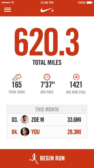 Nike+ Running screenshot 0