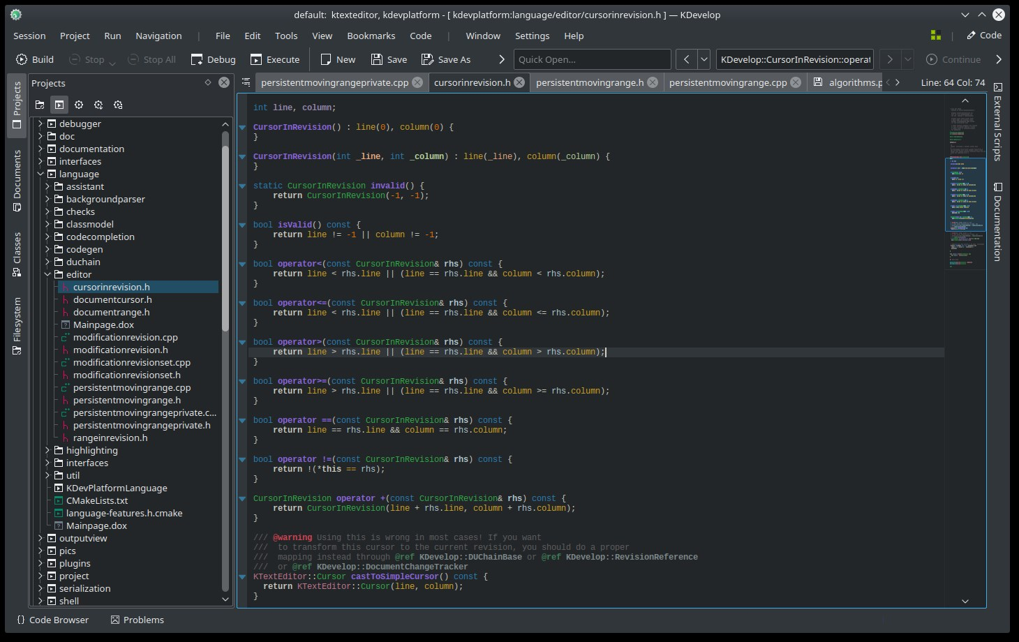 KDevelop screenshot 1
