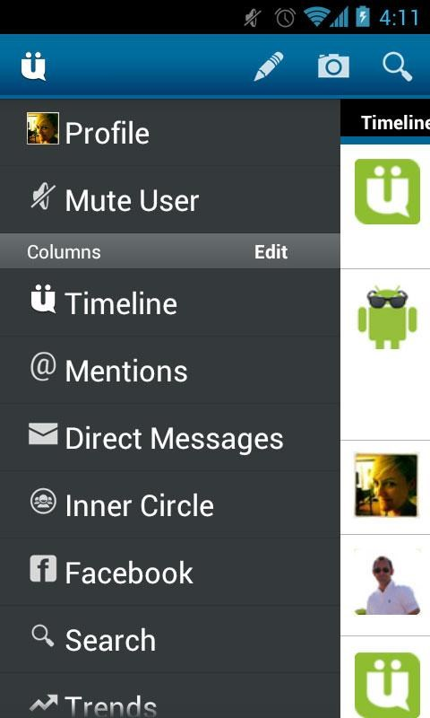 UberSocial screenshot 1