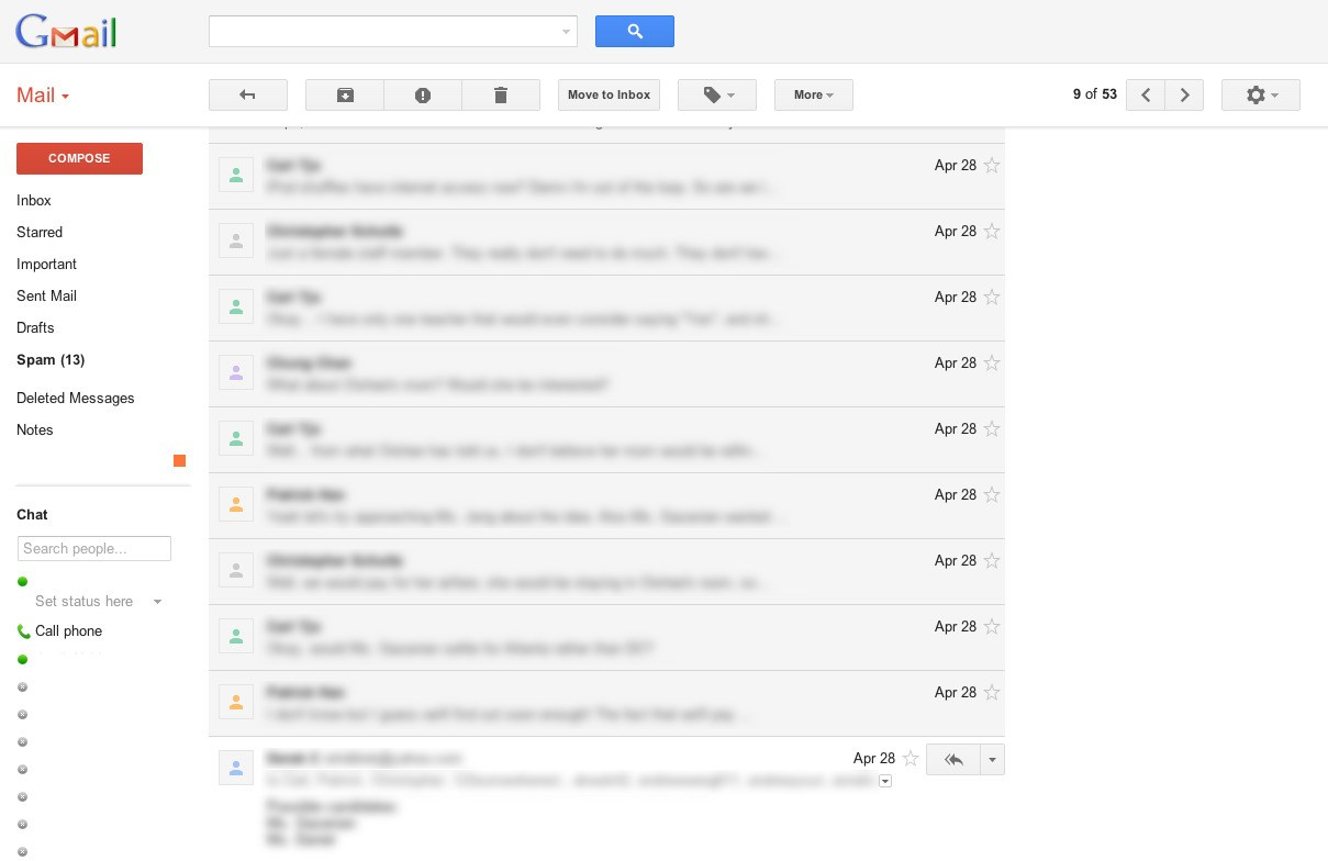Gmail screenshot 1