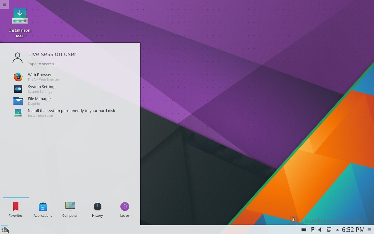 KDE neon screenshot 1