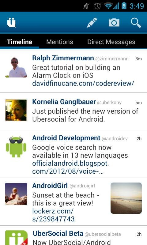 UberSocial screenshot 0