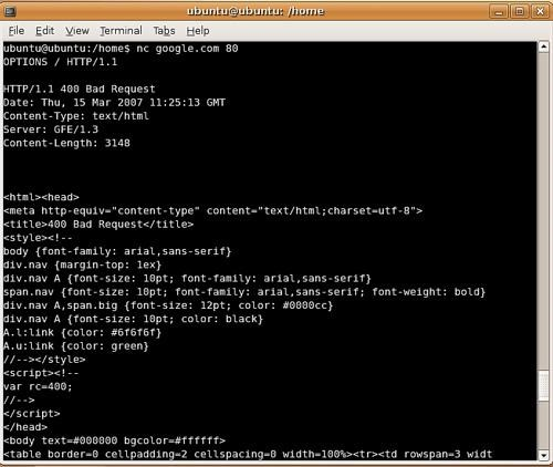 netcat screenshot 0