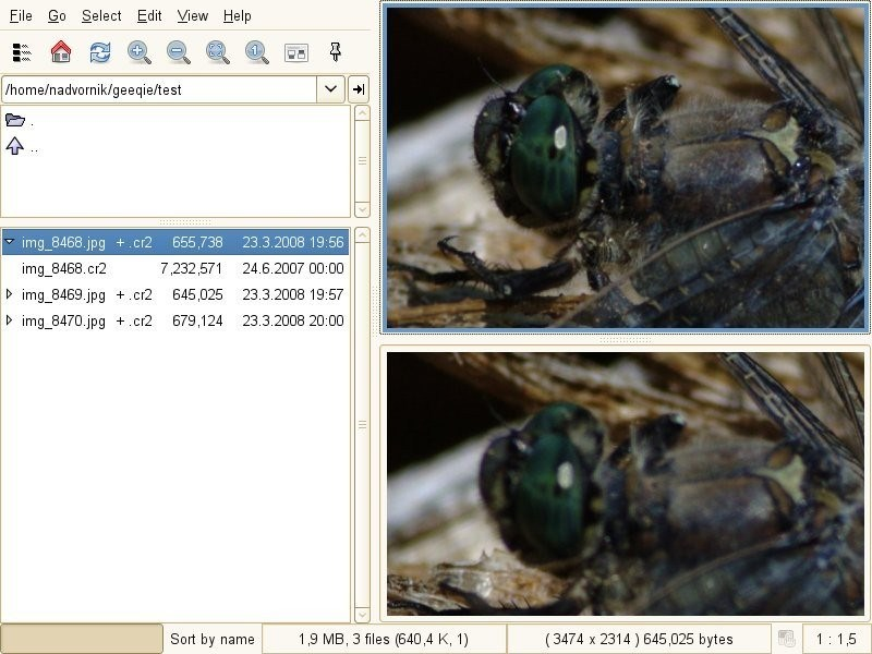 Geeqie Image Viewer screenshot 2