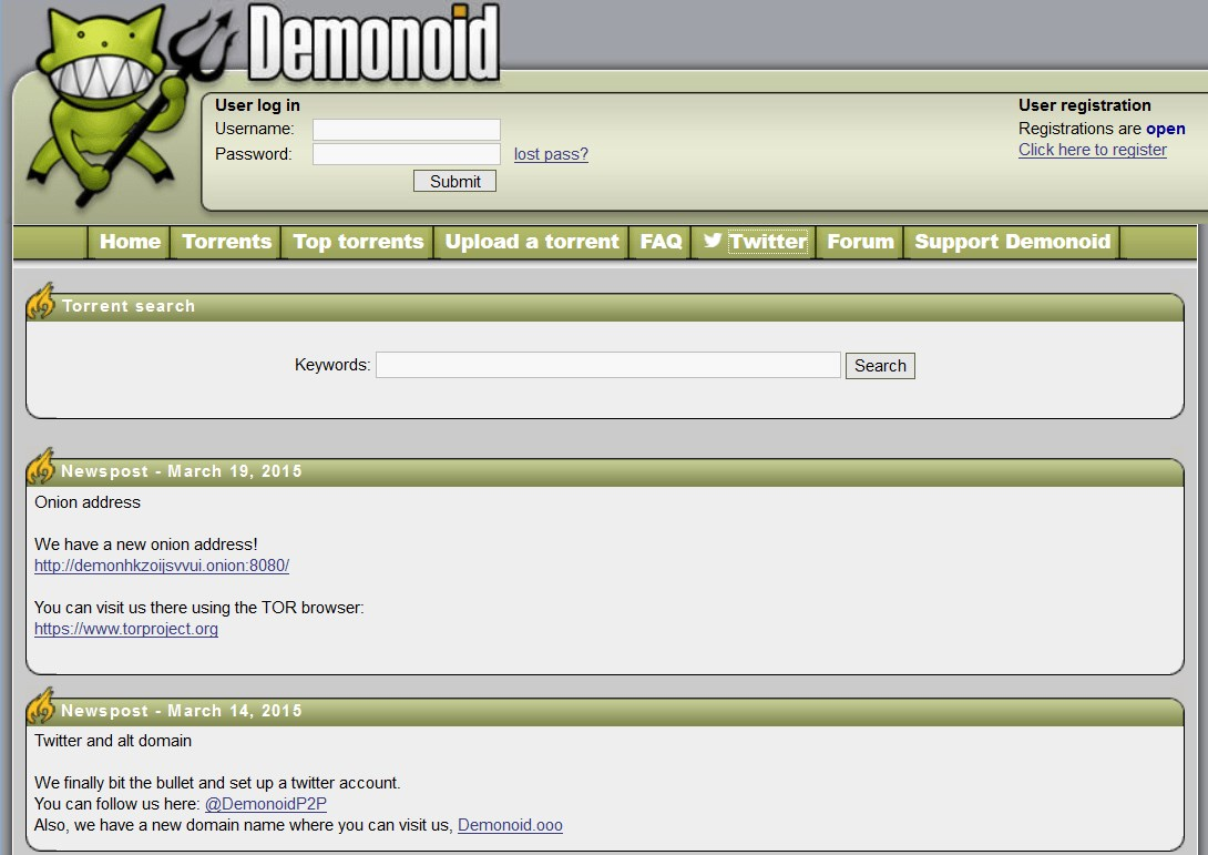 Demonoid screenshot 0