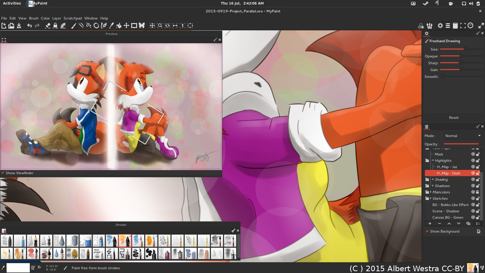 MyPaint screenshot 2