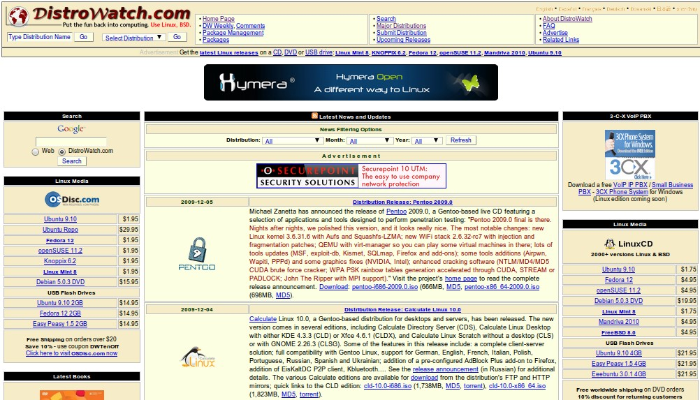 DistroWatch screenshot 0