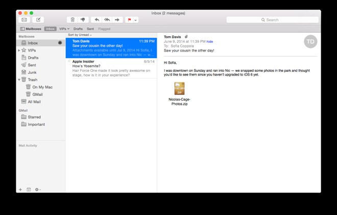 Apple Mail screenshot 0