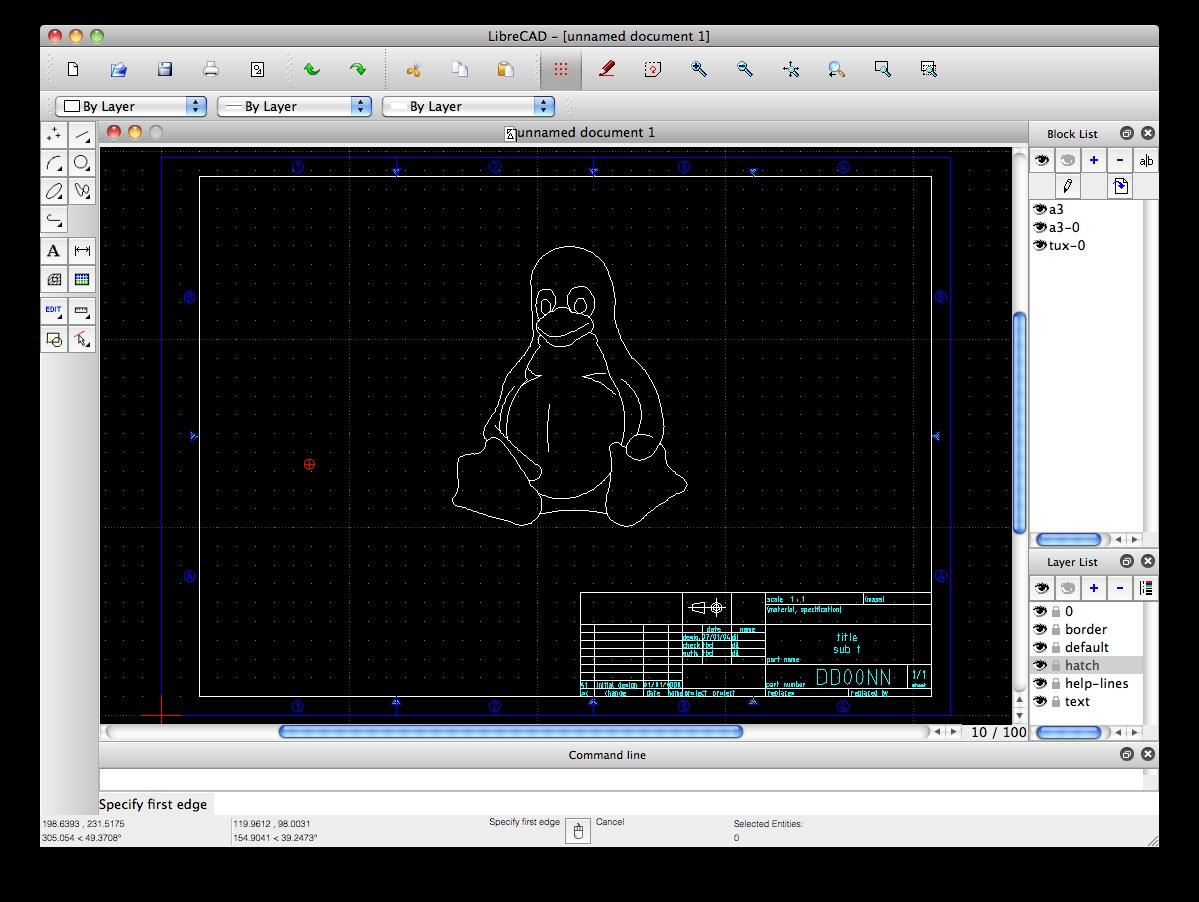 LibreCAD screenshot 0