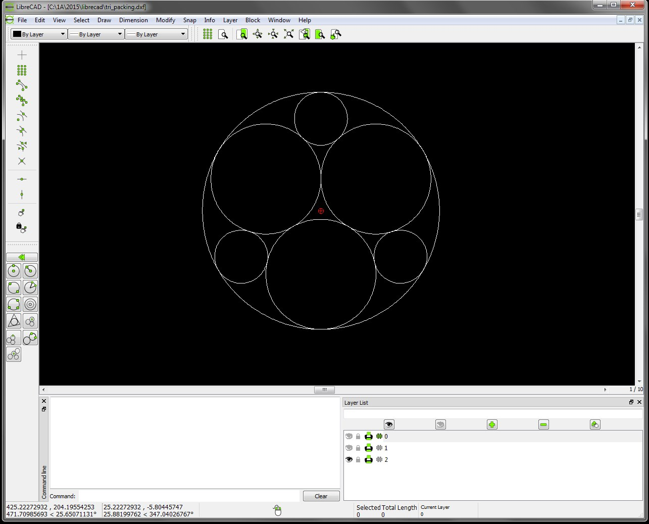 LibreCAD screenshot 1