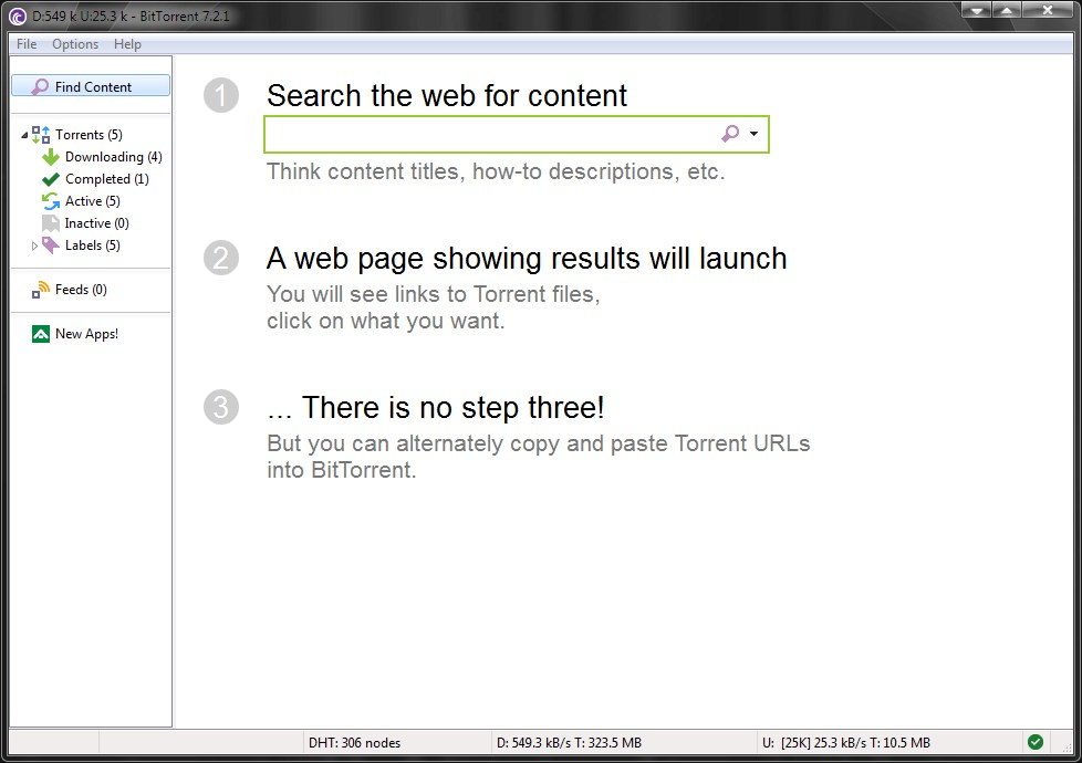 BitTorrent screenshot 1