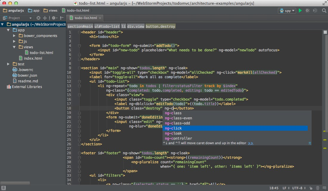 WebStorm screenshot 0