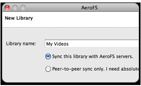 AeroFS screenshot 1