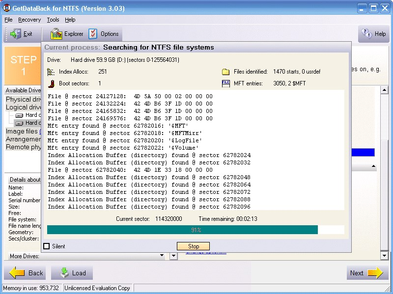 GetDataBack screenshot 1