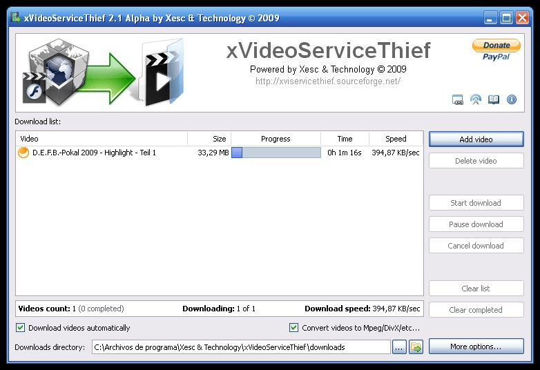 xVideoServiceThief screenshot 0