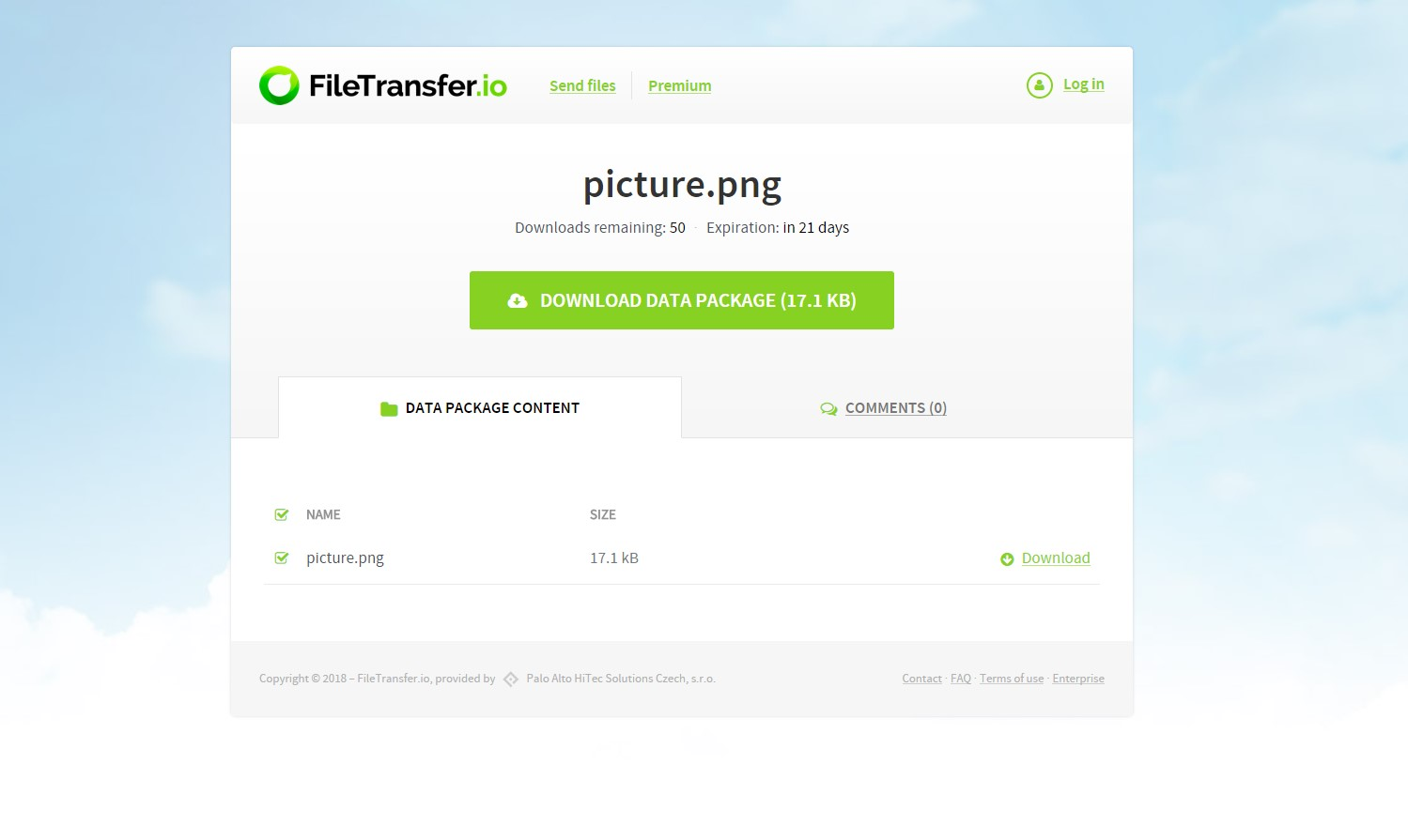 FileTransfer.io screenshot 1