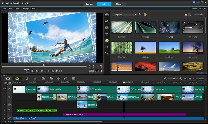 Corel VideoStudio screenshot 1