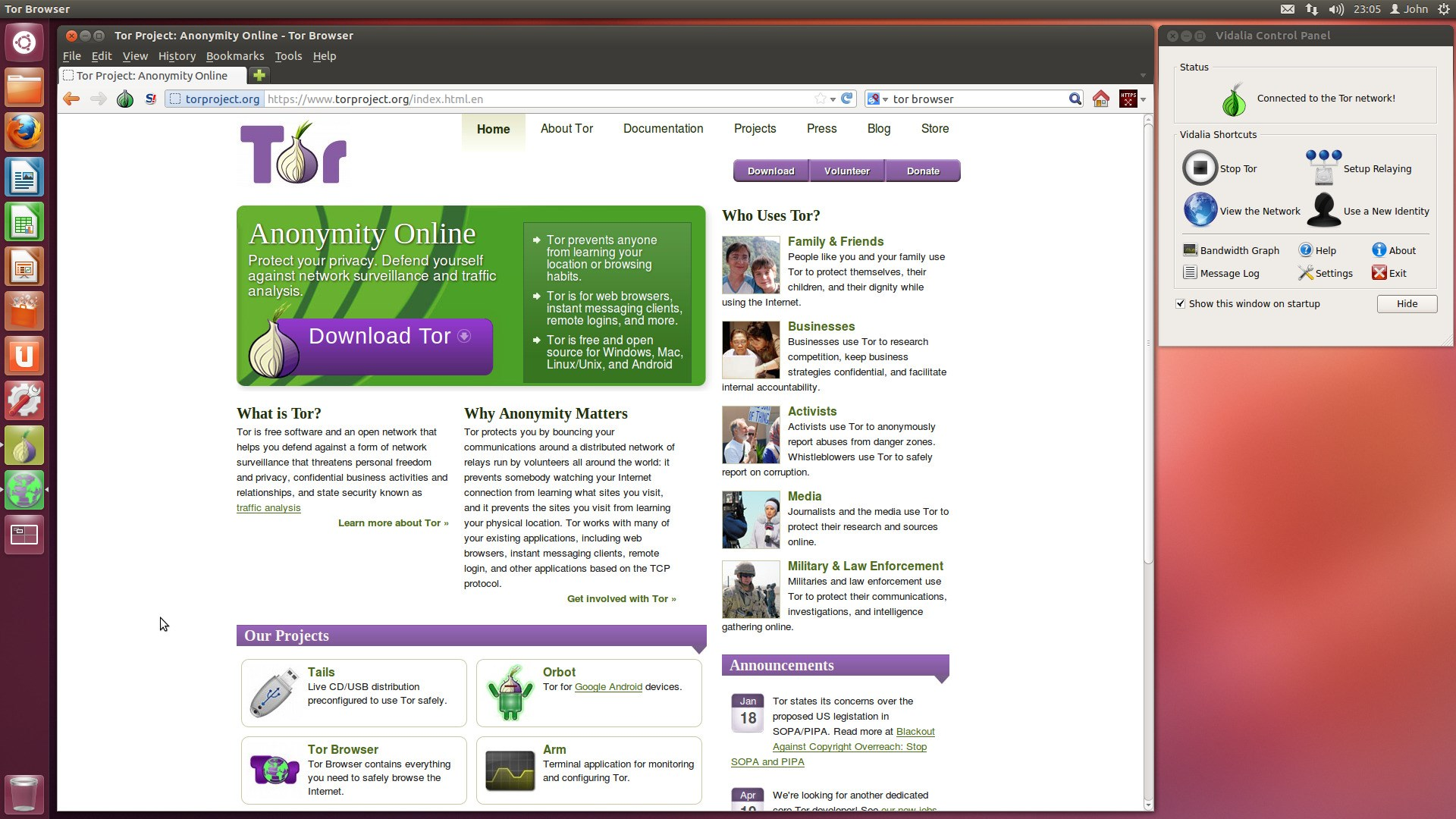 Tor Browser screenshot 2