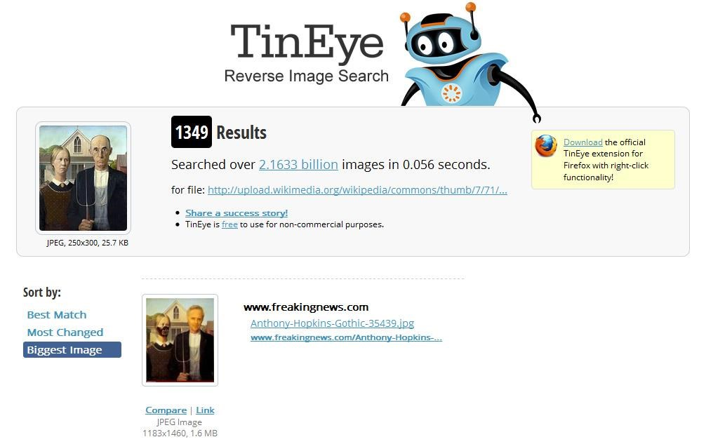 TinEye screenshot 2